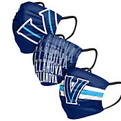 FOCO Adult Villanova Wildcats 3-Pack Matchday Face Coverings
