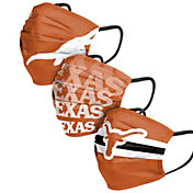 FOCO Adult Texas Longhorns 3-Pack Matchday Face Coverings