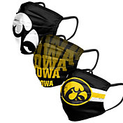 FOCO Adult Iowa Hawkeyes 3-Pack Matchday Face Coverings