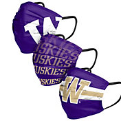 FOCO Adult Washington Huskies 3-Pack Matchday Face Coverings