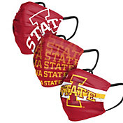 FOCO Adult Iowa State Cyclones 3-Pack Matchday Face Coverings
