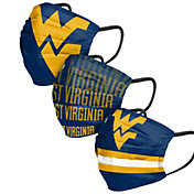 FOCO Adult West Virginia Mountaineers 3-Pack Matchday Face Coverings