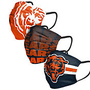 FOCO Adult Chicago Bears 3-Pack Face Coverings