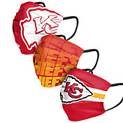 FOCO Adult Kansas City Chiefs 3-Pack Matchday Face Coverings