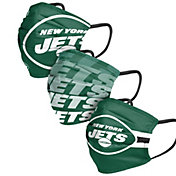 FOCO Adult New York Jets 3-Pack Matchday Face Coverings