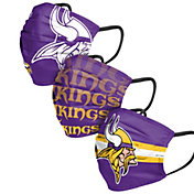 FOCO Adult Minnesota Vikings 3-Pack Matchday Face Coverings