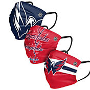 FOCO Adult Washington Capitals 3-Pack Matchday Face Coverings