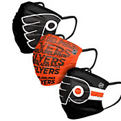 FOCO Adult Philadelphia Flyers 3-Pack Matchday Face Coverings