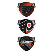 FOCO Youth Philadelphia Flyers Adjustable 3-Pack Face Coverings