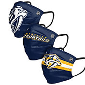 FOCO Adult Nashville Predators Adjustable 3-Pack Face Coverings
