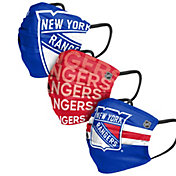 FOCO Adult New York Rangers 3-Pack Matchday Face Coverings