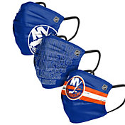 FOCO Adult New York Islanders 3-Pack Matchday Face Coverings