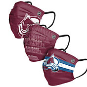 FOCO Adult Colorado Avalanche 3-Pack Matchday Face Coverings