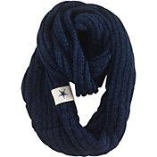 FOCO Dallas Cowboys Cable Knit Infinity Scarf