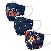 FOCO Youth Houston Astros 3-Pack Face Masks