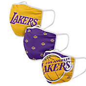 FOCO Youth Los Angeles Lakers 3-Pack Face Masks