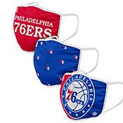 FOCO Youth Philadelphia 76ers 3-Pack Face Masks
