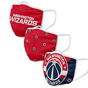 FOCO Youth Washington Wizards 3-Pack Face Coverings