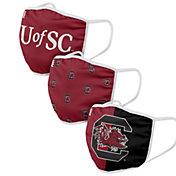 FOCO Youth South Carolina Gamecocks 3-Pack Face Coverings