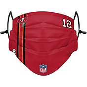 FOCO Youth Tampa Bay Buccaneers Tom Brady #12 On-Field Sideline Adjustable Face Covering