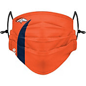 FOCO Youth Denver Broncos On-Field Sideline Stripe Adjustable Face Covering