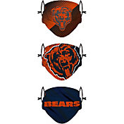 FOCO Youth Chicago Bears Adjustable 3-Pack Face Coverings