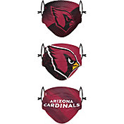 FOCO Youth Arizona Cardinals Adjustable 3-Pack Face Coverings
