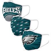 FOCO Youth Philadelphia Eagles 3-Pack Face Masks