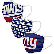 FOCO Youth New York Giants 3-Pack Face Masks