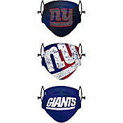 FOCO Youth New York Giants Adjustable 3-Pack Face Coverings