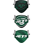 FOCO Youth New York Jets Adjustable 3-Pack Face Coverings