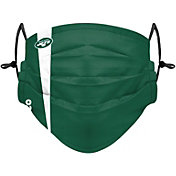 FOCO Youth New York Jets On-Field Sideline Stripe Adjustable Face Covering