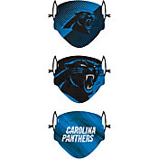 FOCO Youth Carolina Panthers Adjustable 3-Pack Face Coverings