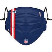 FOCO Youth New England Patriots Cam Newton #1 On-Field Sideline Adjustable Face Covering