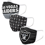 FOCO Youth Las Vegas Raiders 3-Pack Face Coverings