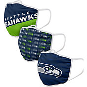 FOCO Youth Seattle Seahawks 3-Pack Face Masks
