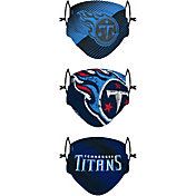 FOCO Youth Tennessee Titans Adjustable 3-Pack Face Coverings