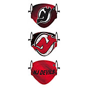FOCO Youth New Jersey Devils Adjustable 3-Pack Face Coverings