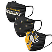 FOCO Youth Pittsburgh Penguins 3-Pack Face Masks