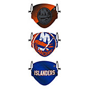 FOCO Youth New York Islanders Adjustable 3-Pack Face Coverings