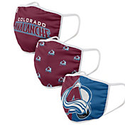 FOCO Youth Colorado Avalanche 3-Pack Face Coverings