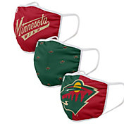 FOCO Youth Minnesota Wild 3-Pack Facemasks