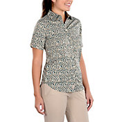 SwingDish Women's Caitlyn Dusty Pink Button Up Short Sleeve Shirt