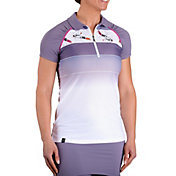 SwingDish Women's Grace Short Sleeve Golf Polo