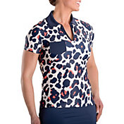 SwingDish Women's Jill Print Short Sleeve Golf Top