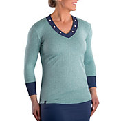 SwingDish Women's Nessa Heather Long Sleeve Golf Top