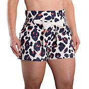SwingDish Women's Zuni Print 4'' Golf Shorts