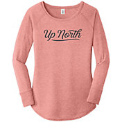 Up North Trading Company Women's Script Long Sleeve T-Shirt