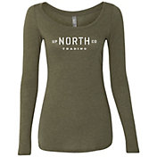 Up North Trading Company Women's Stencil Long Sleeve T-Shirt