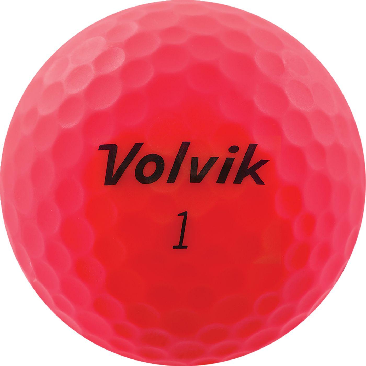 Volvik 2020 VIVID Matte Pink Personalized Golf Balls